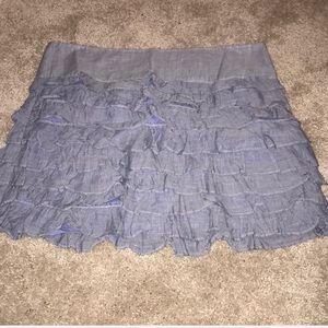 🔵 Old Navy Blue Ruffle Skirt